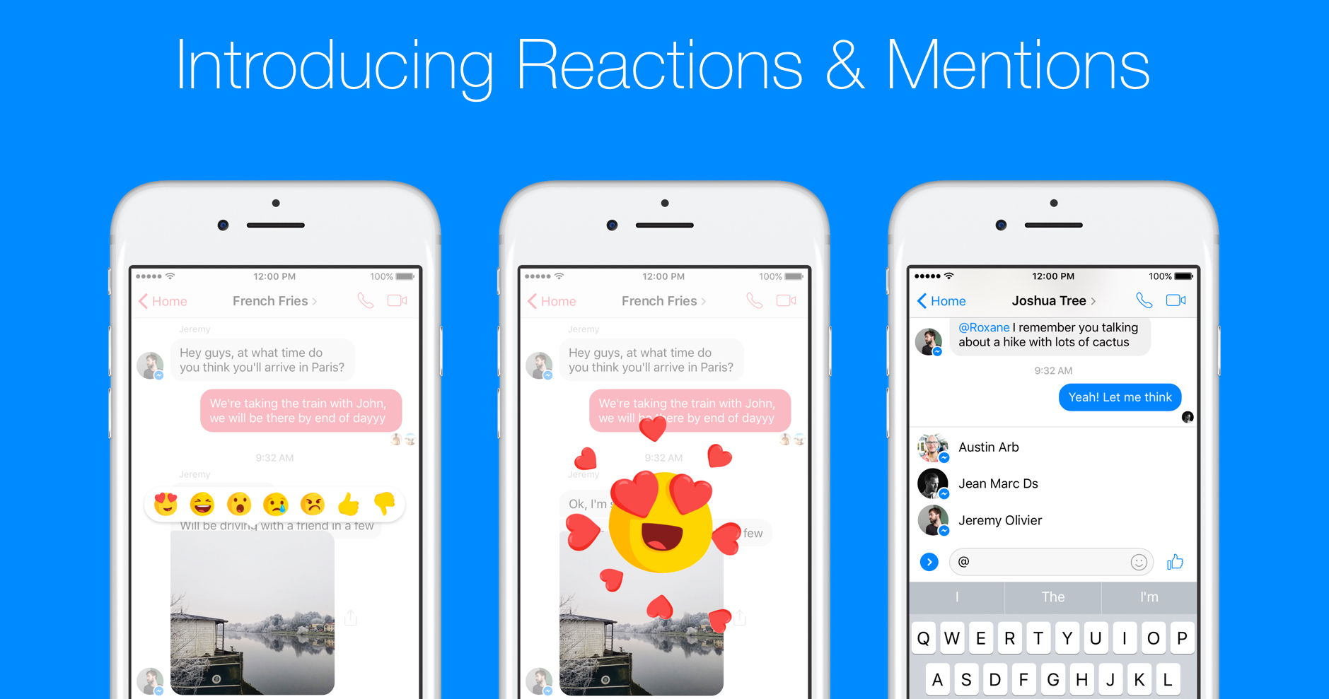 Facebook messenger rolls out mention alerts and message reaction facebook messenger rolls out mention alerts and message reaction emoji techcrunch biocorpaavc Choice Image