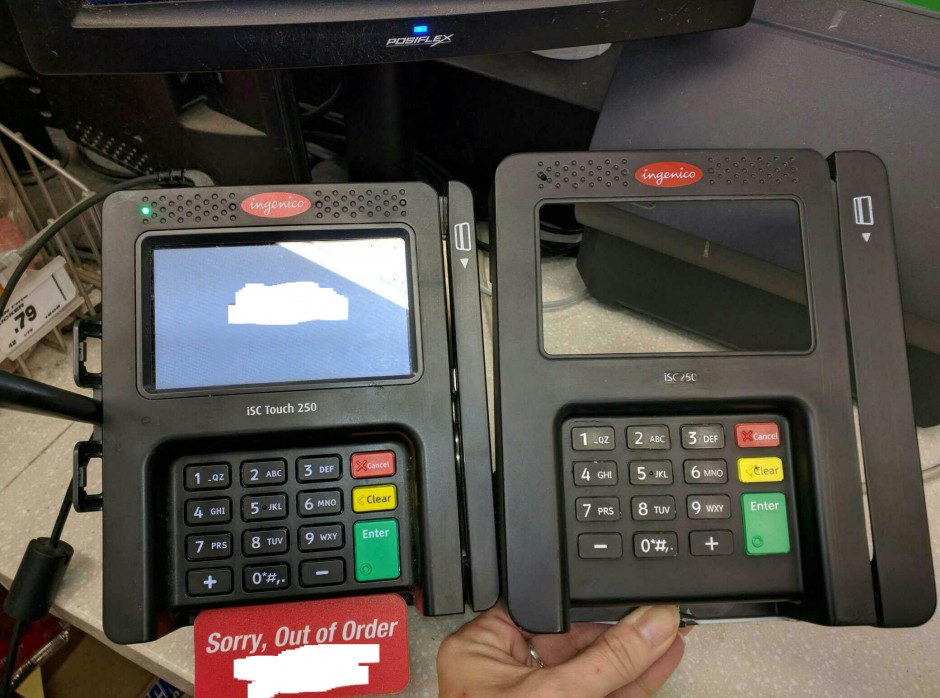New skimmers fit right on top of chip and PIN credit card