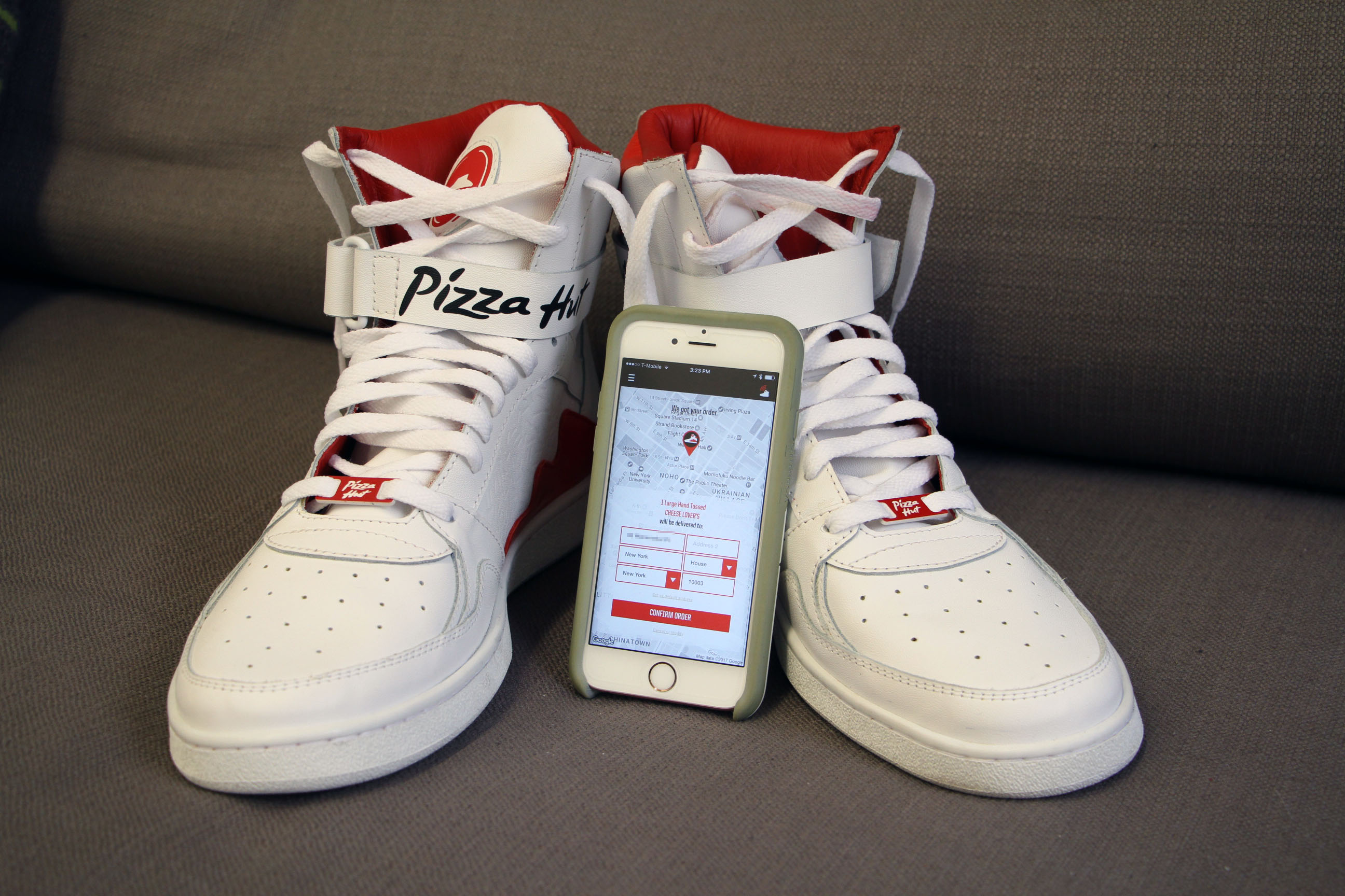 0c3507f423a4c Pizza-ordering Pie Tops sneakers are as good a reason as any to question  your existence | TechCrunch