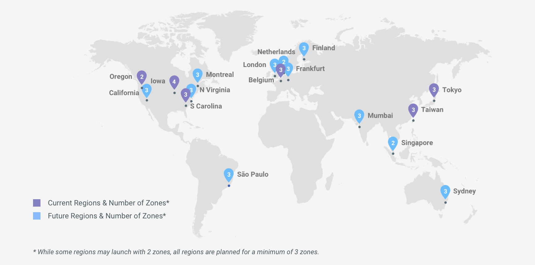 Google cloud adds three new gcp regions techcrunch across the industry amazon and microsoft have been bolstering their infrastructure efforts as well azure now has 34 regions around the world gumiabroncs Images