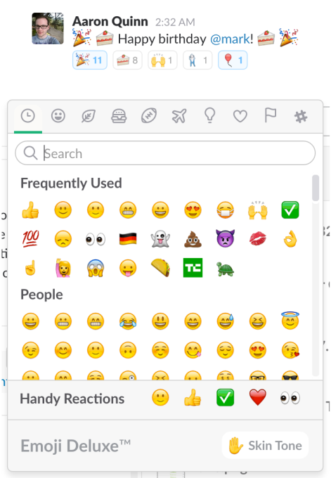 slack-reaction-emoji