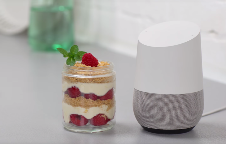 Cooking with google home just got easier techcrunch google home cheescake forumfinder Choice Image