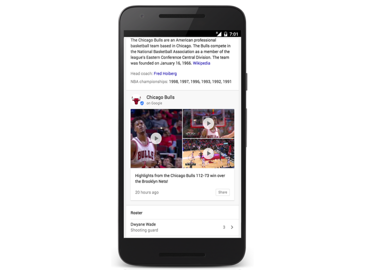 Google adds real-time updates from the NHL & NBA directly to