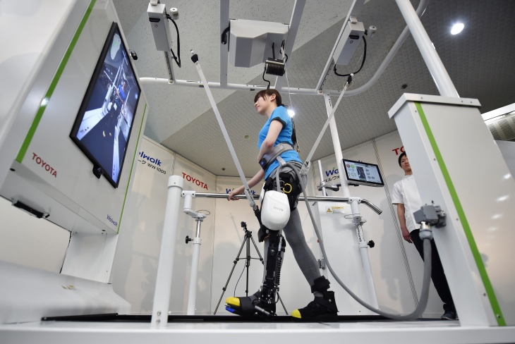 JAPAN-HEALTH-ROBOTS-REHABILITATION-TOYOTA