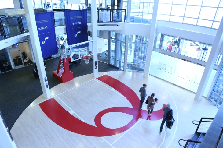 Qualtrics front office basketball court