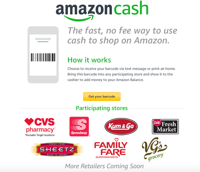 Amazon Launches Amazon Cash A Way To Shop Its Site Without A Bank - Cool invoice template free pay amazon store card online