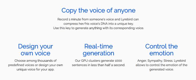 Lyrebird is a voice mimic for the fake news era | TechCrunch