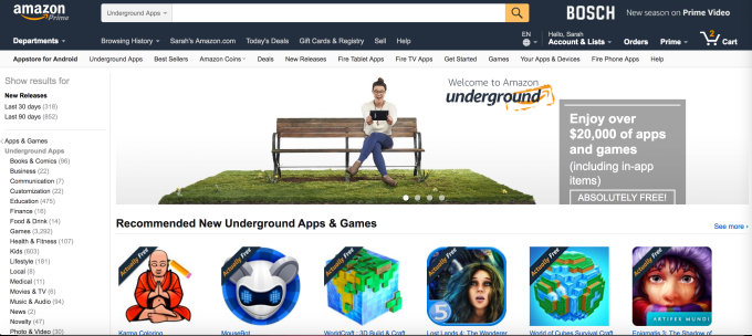 Amazon is shutting down its 'Underground Actually Free