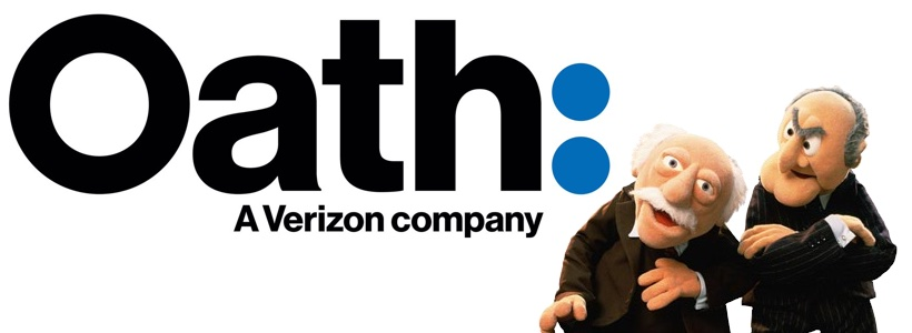 "Corporate identities! We love 'em. But boy is it hard to come up with good  ones. Sounds like we decided to go with ""Oath: A Verizon Company."