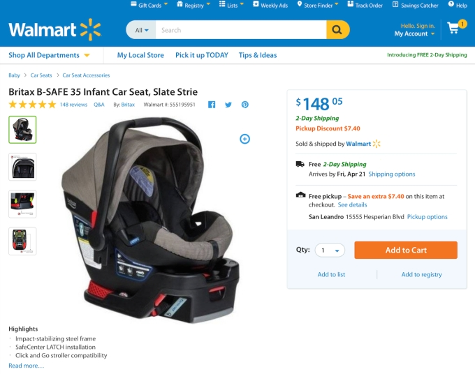 In Some Cases The Discount Will Be Only A Few Dollars But For Larger Items It Could Even More Example Britax B SAFE 35 Infant Car Seat