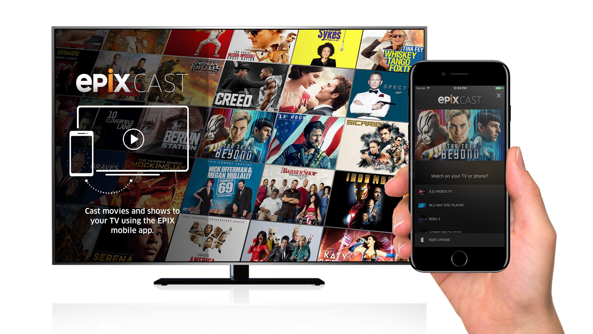 Epix Cast offers an easy way for viewers to stream movies to