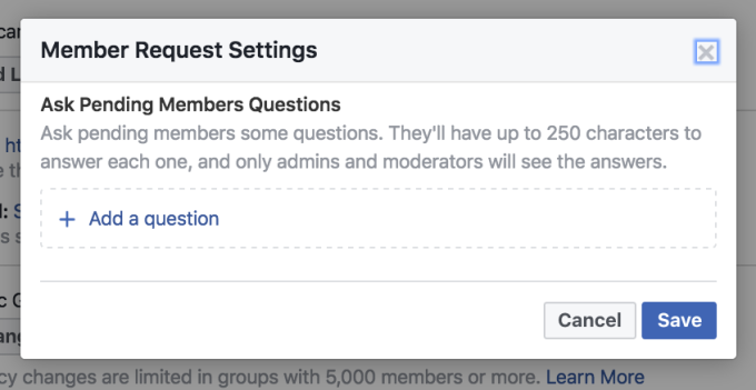 Facebook Groups can now screen new members with a