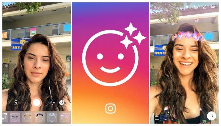 Instagram launches selfie filters copying the last big snapchat instagram face filter ccuart Image collections