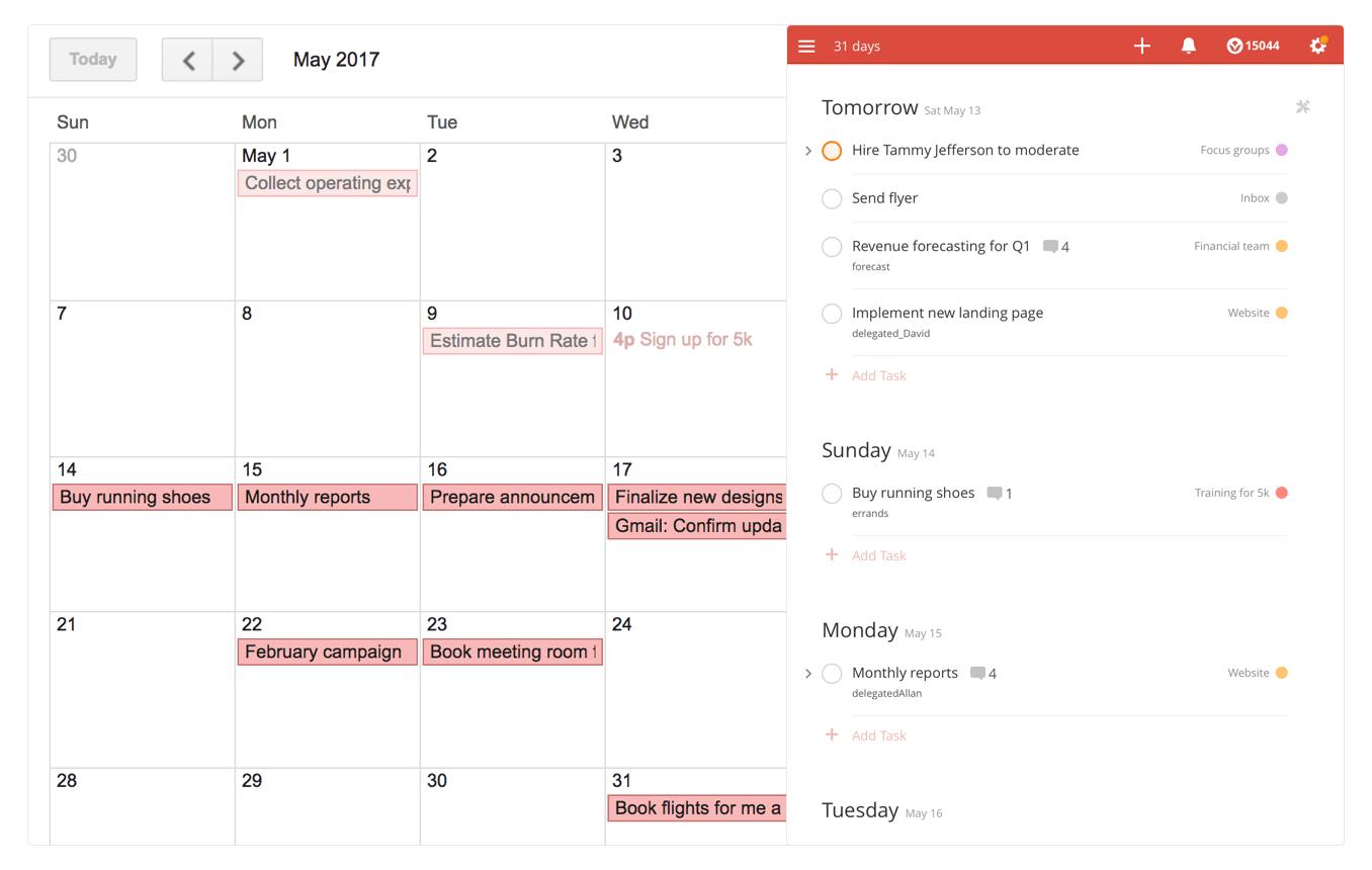 Todoist launches a deep integration with Google Calendar