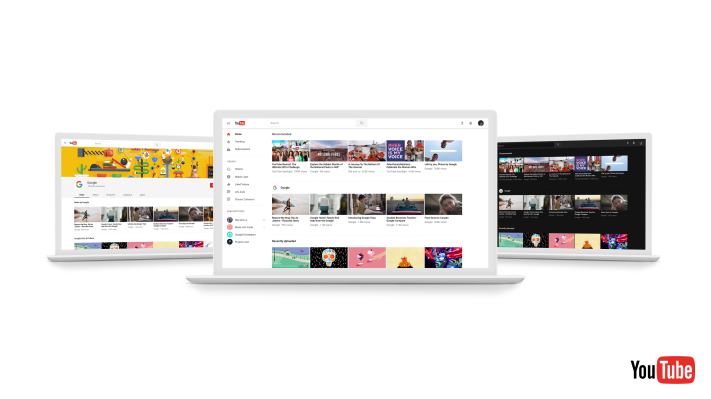f66af7c3b55 YouTube revamps its desktop site with an updated design, optional dark  theme, and faster framework | TechCrunch