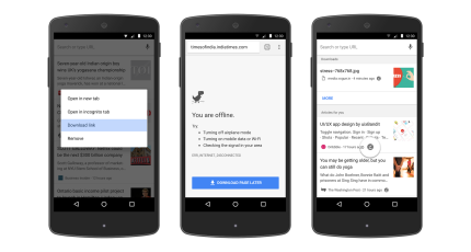Offline content gets a boost in the new version of Chrome