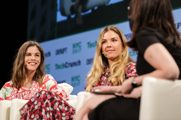 Emily Weiss (Glossier) and Tyler Haney (Outdoor Voices) at TechCrunch Disrupt NY 2017