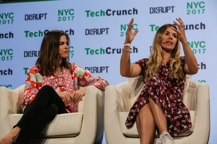 Emily Weiss Glossier And Tyler Haney Outdoor Voices At Techcrunch Disrupt Ny