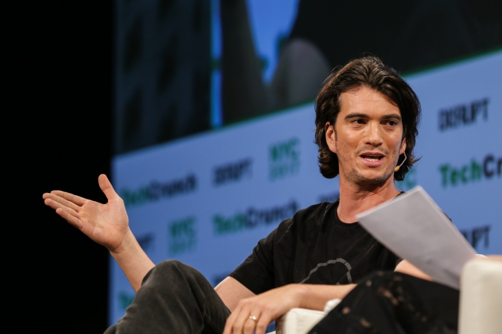 Adam Neumann (WeWork) at TechCrunch Disrupt NY 2017