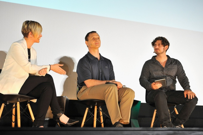 SAN FRANCISCO, CA – JUNE 06: Left to right, KR Liu, Matt King and Josh Constine speak on a panel at Alamo Drafthouse New Mission on June 6, 2017 in San Francisco, California. (Photo by Steve Jennings/Getty Images for TechCrunch)