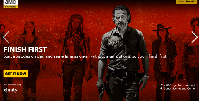AMC launches a $5 per month ad-free TV streaming service