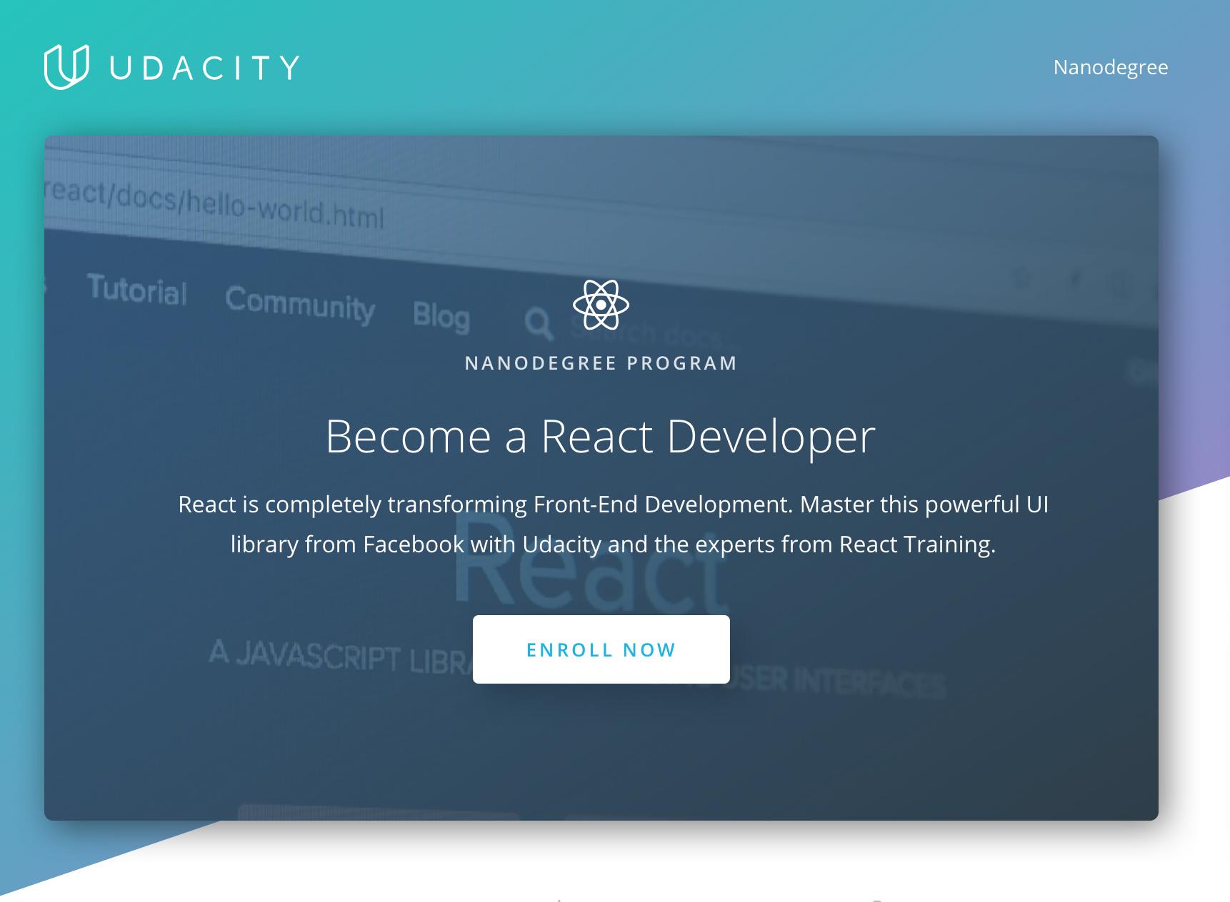 Udacity S Latest Nanodegree Will Teach React Techcrunch