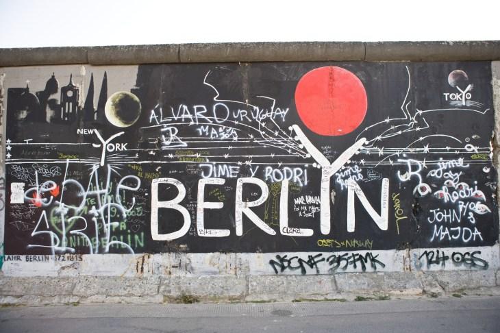 Graffiti On Berlin Wall Berlin Germany