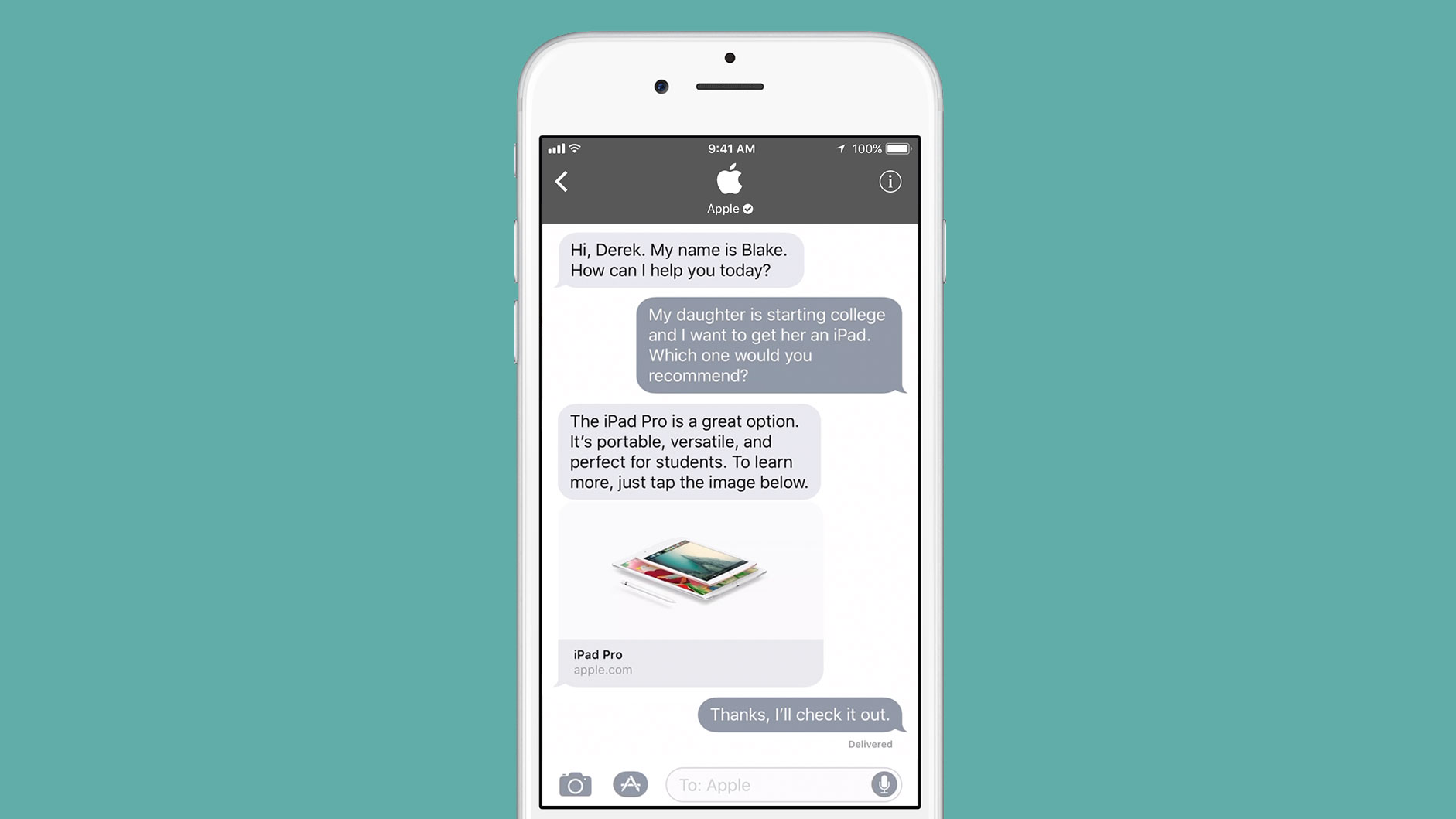 6a37bb6bc4d99d Apple to take on messaging rivals with launch of Business Chat | TechCrunch