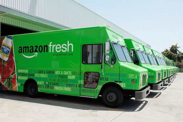 Amazon is placing new online grocery customers on a waiting list