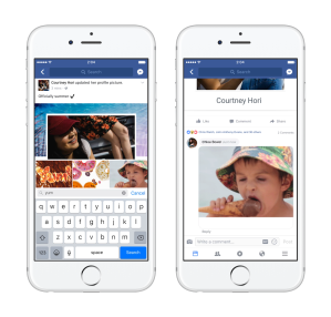 facebook rolls out the gif button for comments to all users techcrunch