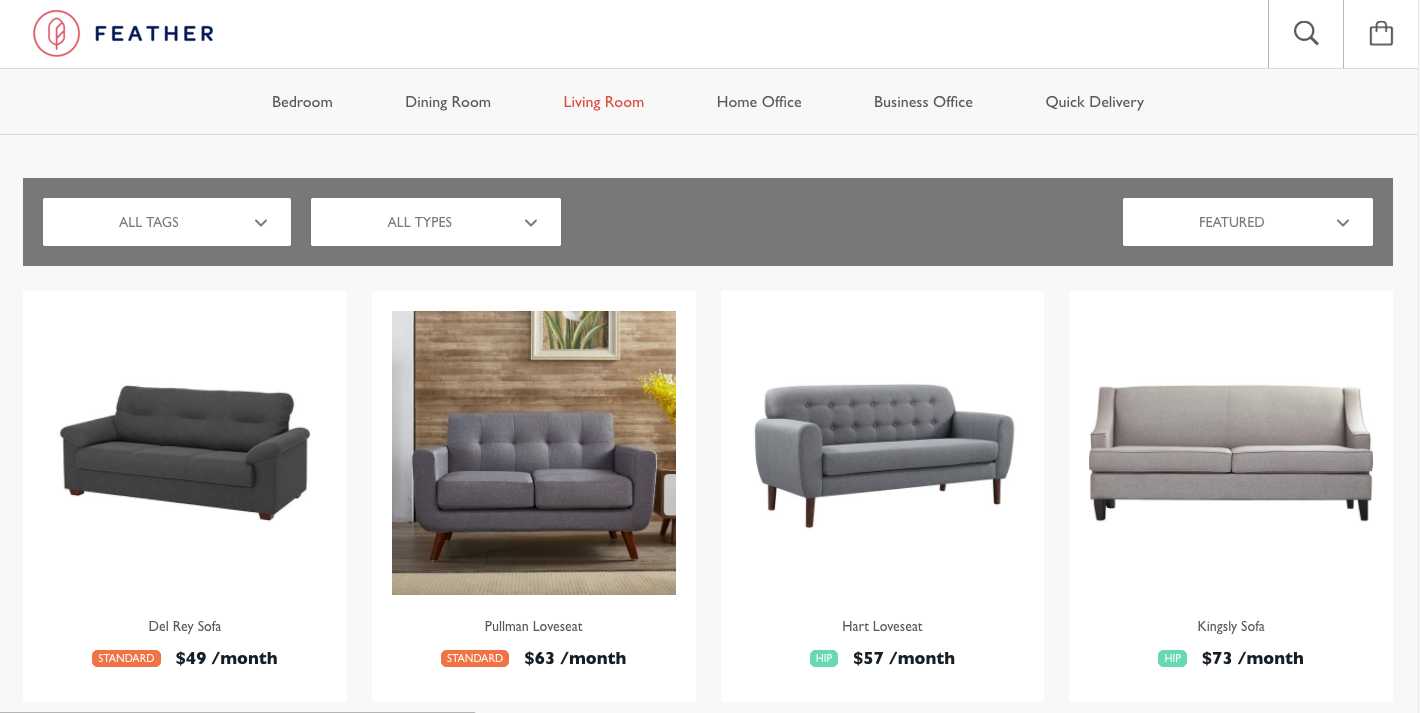 Feather launches a high-end furniture rental service for liminal ...