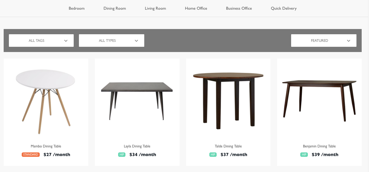 Feather Launches A High End Furniture Rental Service For Liminal