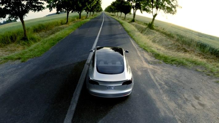 Tesla model 3 silver 2