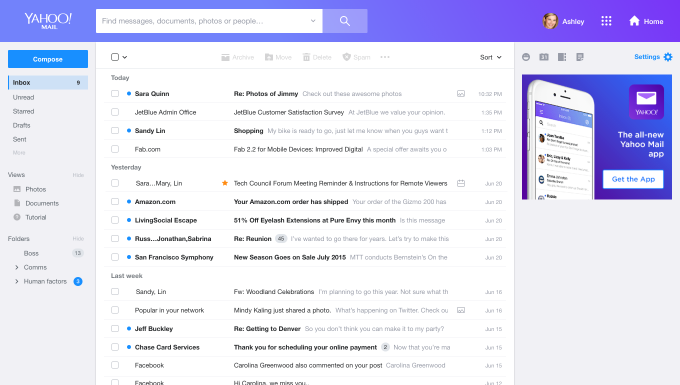 Yahoo Mail rolls out a rebuilt, redesigned service, including a new