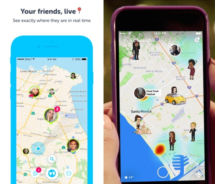 Snap copied location sharing app Zenly to build Snap Map