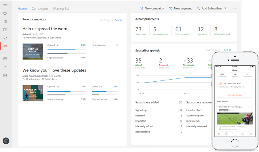 microsoft launches new email marketing and invoicing tools for small