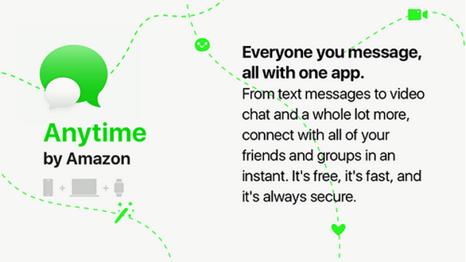 Is Amazon working on a new messaging app called Anytime