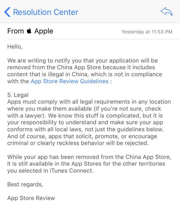 Apple removes VPN apps from the App Store in China | TechCrunch