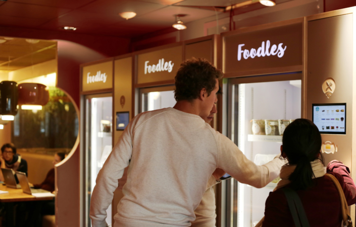 office canteen. Foodles Uses Connected Fridges To Modernize Your Office Canteen