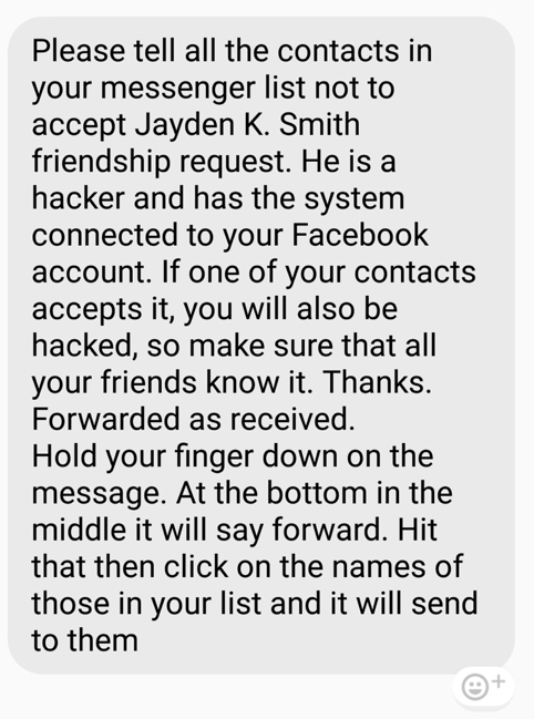 There is no hacker called 'Jayden K  Smith'   TechCrunch