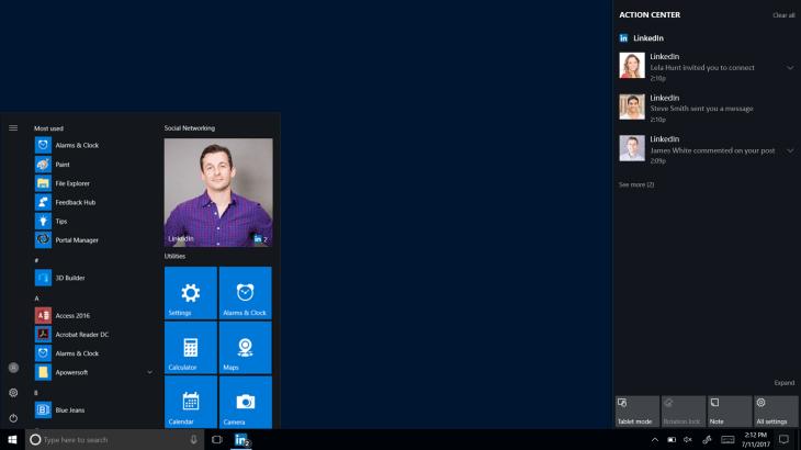 Outstanding Linkedins New Desktop App Arrives On Windows 10 Techcrunch Download Free Architecture Designs Rallybritishbridgeorg