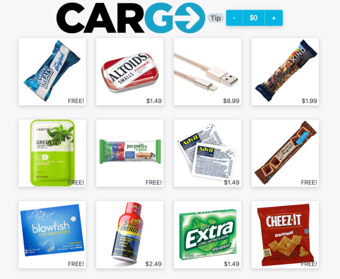 Cargo Wants To Put A Vending Machine In Every Uber Techcrunch