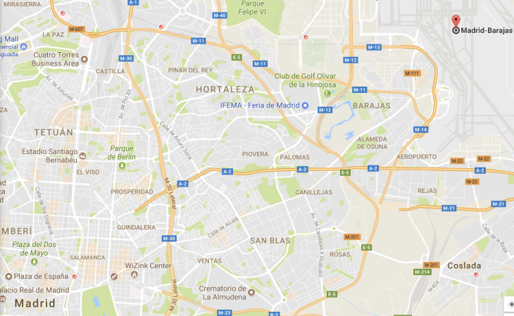 Map Of Spain Showing Airports.Uber Faces Unfair Competition Probe Over Madrid Airport Service