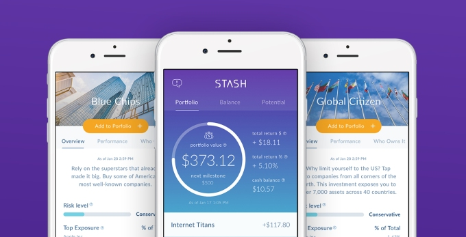 Investing app Stash partners with Green Dot to expand into banking stashapp iphonesceens purple