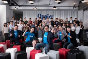 Appier co-founder and CEO Chih-Han Yu (middle) with the startup's employees