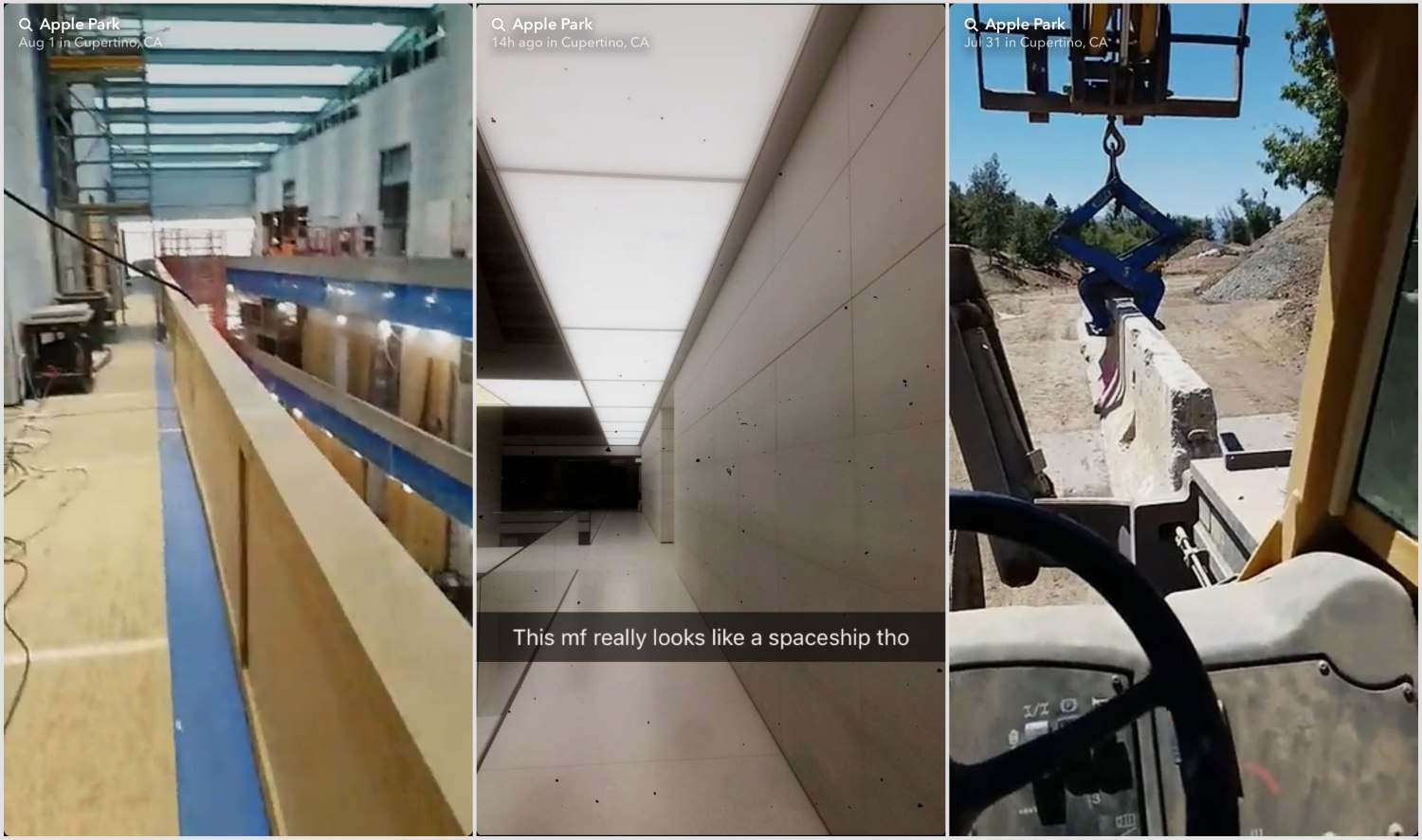 Construction workers are posting Snapchat stories from