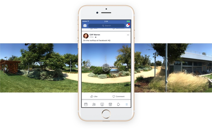 Facebook now lets you take 360 photos in-app, use them as