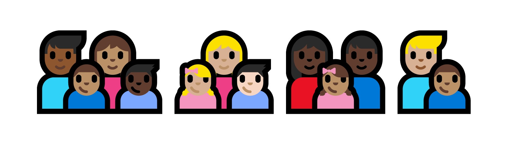 facebook adds skin tones to family emoji but it s complicated