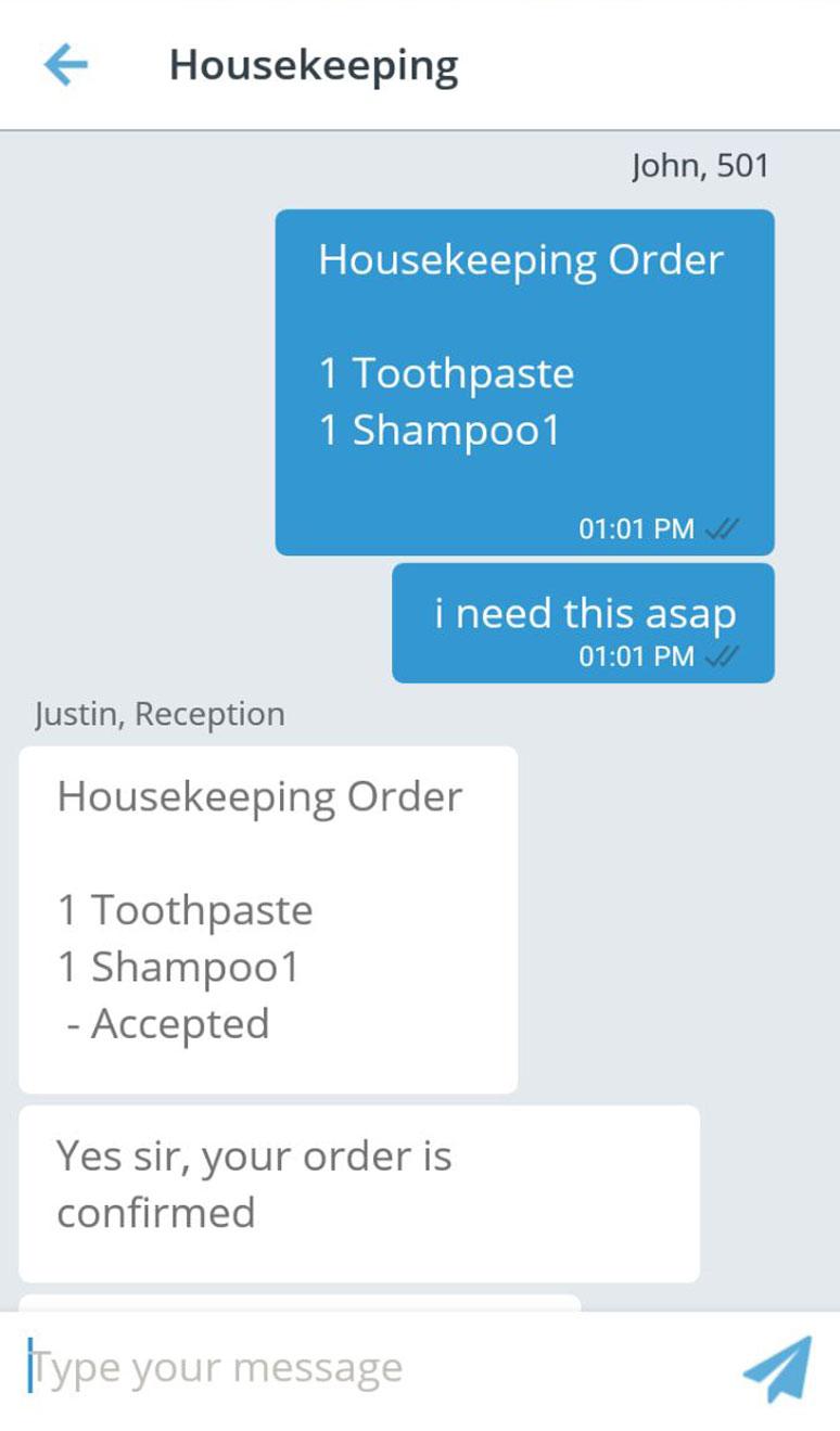 aavgo-guest-Housekeeping-order
