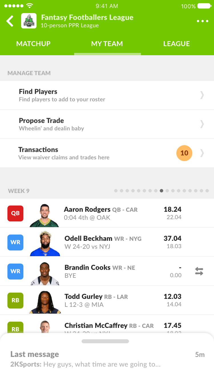 Sleeper is the best place to host your fantasy football